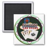 Muestra y dos reyes ficha de póker de Las Vegas Imán De Frigorífico