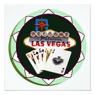 """Muestra y dos reyes ficha de póker de Las Vegas Invitación 5.25"""" X 5.25"""""""