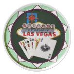 Muestra y dos reyes ficha de póker de Las Vegas Platos De Comidas