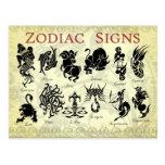 Muestras (astrológicas) del zodiaco postales