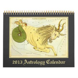 Muestras celestiales 2013 de la astrología del vin calendario de pared