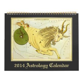 Muestras celestiales 2014 de la astrología del calendarios