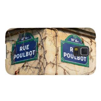 Muestras de calles de Poulbot de la ruda de París Carcasas Para Galaxy S5