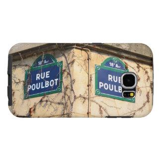 Muestras de calles de Poulbot de la ruda de París Fundas Samsung Galaxy S6
