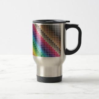 Muestras de cerámica inconsútiles del color taza de viaje de acero inoxidable