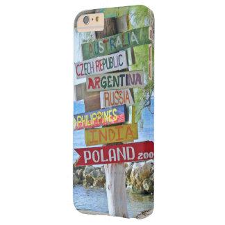 """""""MUESTRAS DE DESTINO DE MADERA COLORIDAS DEL FUNDA DE iPhone 6 PLUS BARELY THERE"""