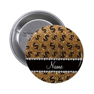 Muestras de dólar conocidas personalizadas del pin redondo 5 cm