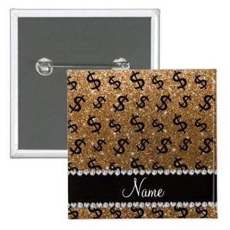 Muestras de dólar conocidas personalizadas del pin cuadrada 5 cm