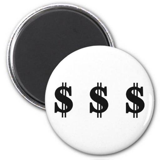 Muestras de dólar imán redondo 5 cm