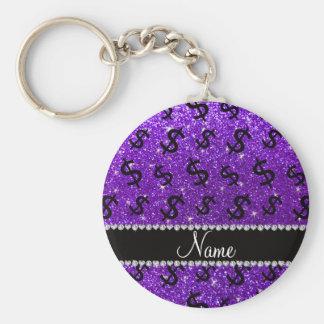 Muestras de dólar púrpuras del brillo del añil llavero redondo tipo pin