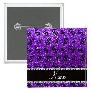 Muestras de dólar púrpuras del brillo del añil pin cuadrada 5 cm