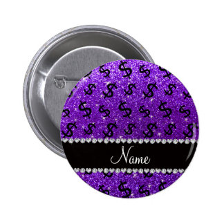 Muestras de dólar púrpuras del brillo del añil pin redondo 5 cm