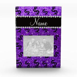 Muestras de dólar púrpuras del brillo del añil