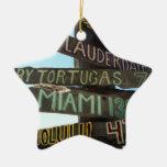 Muestras de Key West Adorno Navideño De Cerámica En Forma De Estrella