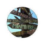 Muestras de Key West Reloj De Pared