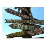 Muestras de Key West Tarjeta Postal