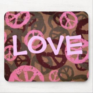 Muestras de la Amor-Decir-Paz/Mirada-Mousepad de C Alfombrillas De Ratón
