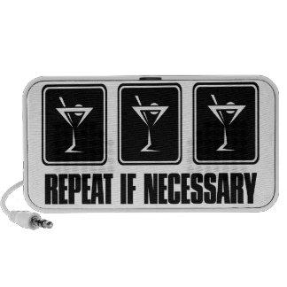 Muestras de la bebida de Martini - repetición en c Portátil Altavoces