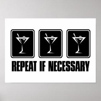Muestras de la bebida de Martini - repetición en c Poster