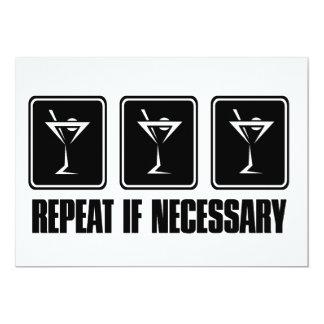 Muestras de la bebida de Martini - repetición en Invitación 12,7 X 17,8 Cm