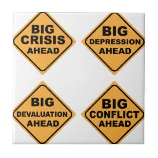 Muestras de la crisis azulejo cuadrado pequeño