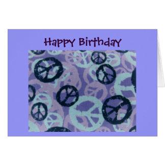 Muestras de la Cumpleaños-Paz/Mirada-Tarjeta felic Tarjeta De Felicitación