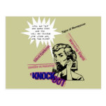Muestras de la menopausia tarjetas postales