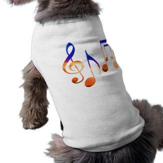 Muestras de la música de baile camisetas de perrito