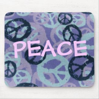 Muestras de la Paz-Decir-Paz/mirada Mousepad de Ca