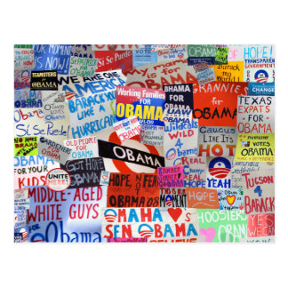 Muestras de la postal de Obama de la esperanza