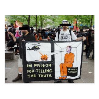Muestras de la protesta de OWS (postal)