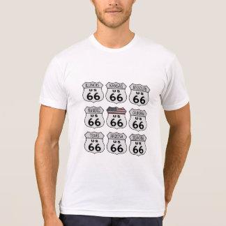 Muestras de la ruta 66 camisetas