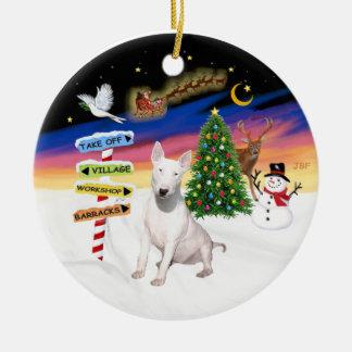 Muestras de Navidad - bull terrier #2 Adorno De Navidad