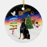 Muestras de Navidad - Doberman #1 Ornamento Para Reyes Magos