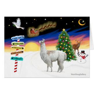 Muestras de Navidad - llama 1 Tarjeta
