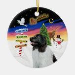 Muestras de Navidad - Newfie Landseer Ornamentos De Reyes