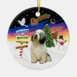 Muestras de Navidad - perro pastor polaco de la Adorno De Navidad