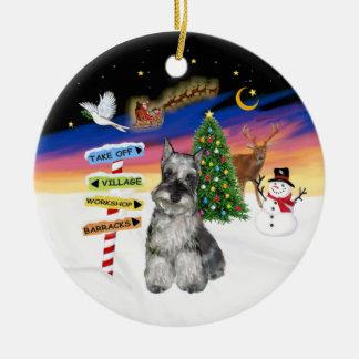 Muestras de Navidad - Schnauzer 4 Ornamente De Reyes