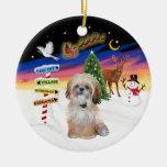 Muestras de Navidad - Shih Tzu (p) Ornaments Para Arbol De Navidad