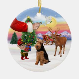 Muestras de Navidad - Terrier galés Ornaments Para Arbol De Navidad
