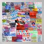 Muestras de Obama alrededor del país Impresiones