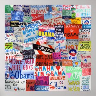 Muestras de Obama alrededor del país Póster