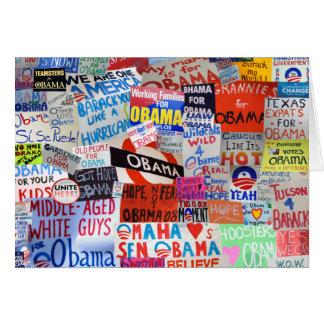 Muestras de Obama del espacio en blanco Notecard Tarjeta Pequeña