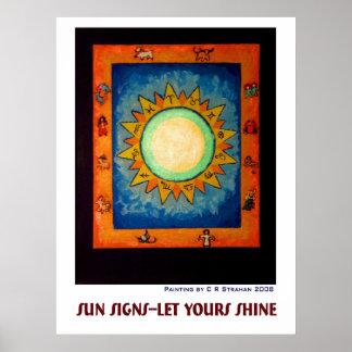 Muestras de Sun--Dejado el suyo brillar Posters