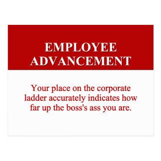 Muestras del adelanto del empleado (2) postales