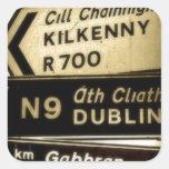 Muestras del borde de la carretera de Irlanda Etiquetas