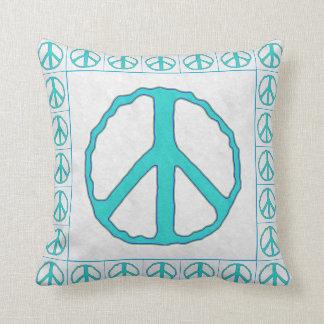 Muestras del ~ de la paz ciánicas almohada