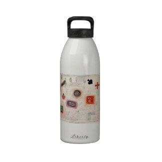 Muestras del lugar de Paul Klee- Botellas De Agua Reutilizables