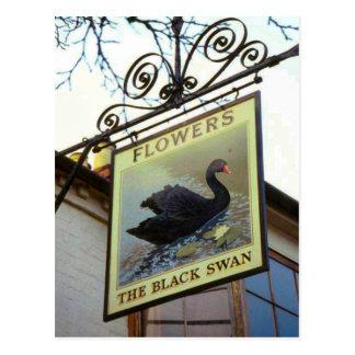 Muestras del mesón de Inglaterra, el cisne negro Tarjetas Postales