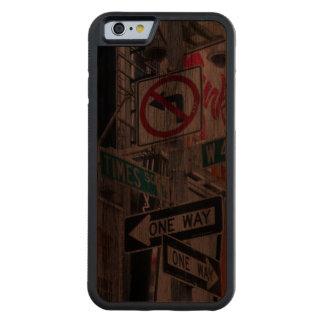 Muestras del Times Square Funda De iPhone 6 Bumper Nogal